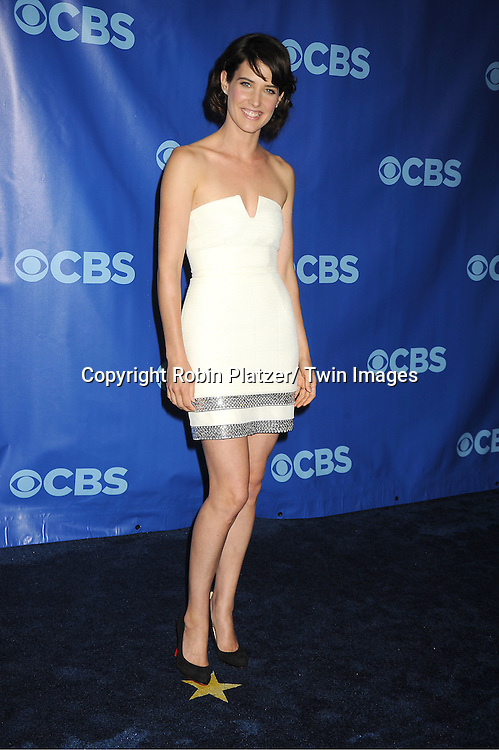 Cobe Smulders attending The CBS Upfront announcement of the Prime Time 2011-2012 Season on May 18, 2011 at Damrosch Park in  Lincoln Center in New York City.
