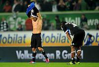 FUSSBALL   1. BUNDESLIGA   SAISON 2011/2012   27. SPIELTAG VfL Wolfsburg - Hamburger SV         23.03.2012 Tomas Rincon und Michael Mancienne (v.l., alle Hamburger SV)  sind nach dem Abpfiff enttaeuscht