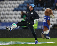 Manchester City's Nicolas Otamendi warming up before the match<br /> <br /> Photographer Andrew Kearns/CameraSport<br /> <br /> English League Cup - Carabao Cup Quarter Final - Leicester City v Manchester City - Tuesday 18th December 2018 - King Power Stadium - Leicester<br />  <br /> World Copyright © 2018 CameraSport. All rights reserved. 43 Linden Ave. Countesthorpe. Leicester. England. LE8 5PG - Tel: +44 (0) 116 277 4147 - admin@camerasport.com - www.camerasport.com