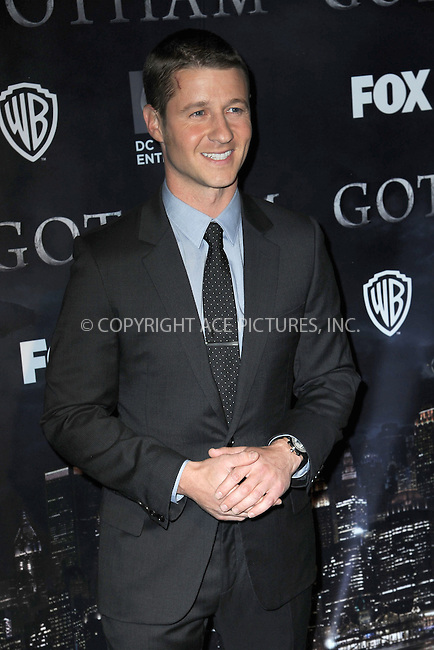 WWW.ACEPIXS.COM<br /> September 15, 2014 New York City<br /> <br /> Benjamin McKenzie attends the 'Gotham' Series Premiere at The New York Public Library onSeptember 15, 2014 in New York City.<br /> <br /> Please byline: Kristin Callahan/AcePictures<br /> <br /> ACEPIXS.COM<br /> <br /> Tel: (212) 243 8787 or (646) 769 0430<br /> e-mail: info@acepixs.com<br /> web: http://www.acepixs.com