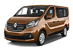 2015 Renault Trafic Luxe 5 Door Van angular front stock photos of front three quarter view