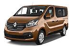 2015 Renault Trafic Luxe 5 Door Van angular front stock photos of front three quarter view
