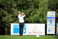 Max Schmitt (GER) during the third round of the Kazakhstan Open presented by ERG played at Zhailjau Golf Resort, Almaty, Kazakhstan. 15/09/2018<br /> Picture: Golffile | Phil Inglis<br /> <br /> All photo usage must carry mandatory copyright credit (&copy; Golffile | Phil Inglis)