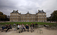 France, Paris, October 28, 2011..General view of the Louxembourg Palace in Paris October 28 , 2011. VIEWpress / Kena Betancur..Paris is today one of the world's leading business and cultural centres, and its influences in politics, education, entertainment, media, fashion, science, and the arts all contribute to its status as one of the world's major global cities. Media Reported.