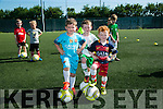 l-r  Jamie Ward, Shane Culloty and Rian Duffy.  enjoying the St Brendan's Park FC Summer camp on Tuesday