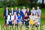 The O'Grady family from Killarney who had a family gathering in Rozzers restaurant Fossa on Saturday night front row l-r: Carla O'Sullivan, Christine, Ann, Julia O'Grady, Denise Claffey, Emma O'Grady. Back row: Hugh O'Sullivan, Donal O'Grady, Donal Coffey, Mike, John O'Grady, Joan Mangan, Paudie Mangan and Martin O'Grady