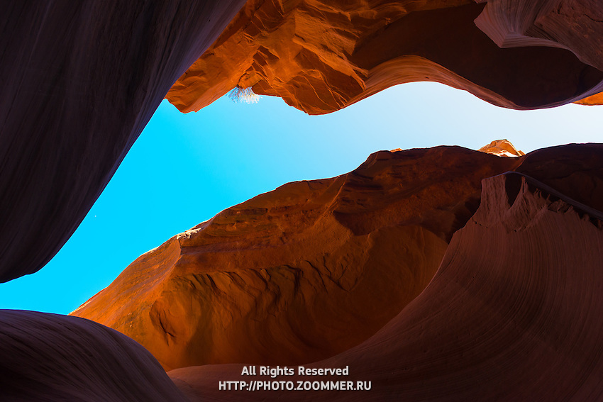 Blue Sky Gap In Antelope Canyon, Arizona