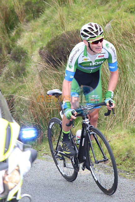 Prezimislaw Kasperkiewicz An Post Chain Reaction near the summit of the first Cat 1 climb Mamore Gap during Stage 4 of the 2017 An Post Ras running 151.8km from Bundoran to Buncrana, Ireland. 24th May 2017.<br /> Picture: Andy Brady | Cyclefile<br /> <br /> <br /> All photos usage must carry mandatory copyright credit (&copy; Cyclefile | Andy Brady)