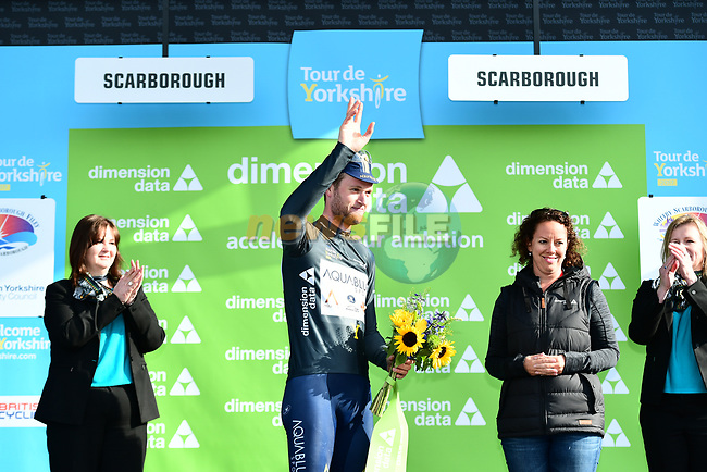 DUNNE Conor (IRL) Aqua Blue Sport wins the combativity award at the end of Stage 1 the Tour de Yorkshire 2017 running 174km from Bridlington to Scarborough, England. 28th April 2017. <br /> Picture: ASO/A.Broadway | Cyclefile<br /> <br /> <br /> All photos usage must carry mandatory copyright credit (&copy; Cyclefile | ASO/A.Broadway)