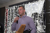 B's Black Most Improved Player of the Year Michael Raaymakers. Counties Manukau Rugby Unions Senior Prize giving held at ECOLight Stadium Pukekohe on Wednesday November 2nd, 2016.<br /> Photo by Richard Spranger.