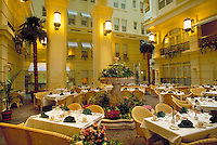 The French Renaissance style is apparent in the restaurant of the historic hotel. Philadelphia Pennsylvania United States.