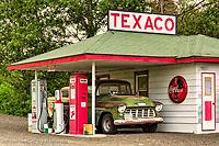 Tom Hennigar's restored gas station, Palouse region of eastern Washington