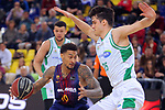 League ACB-ENDESA 2017/2018 - Game: 27.<br /> FC Barcelona Lassa vs Real Betis Energia Plus: 121-56.<br /> Edwin Jackson vs Rade Zagorac.