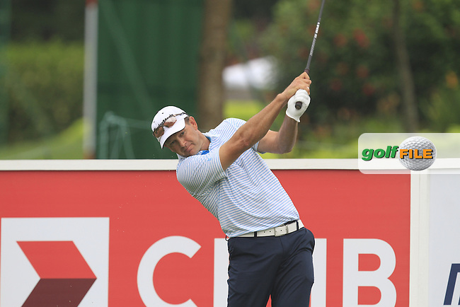 Retief Goosen (RSA) on the 12th tee during Round 3 of the CIMB Classic in the Kuala Lumpur Golf &amp; Country Club on Saturday 1st November 2014.<br /> Picture:  Thos Caffrey / www.golffile.ie