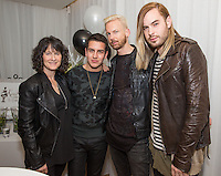 Michelle Grua, Sean Scott, Chris Classen and Anthony David attend Levitation Activewear presents Sean Scott's Birthday Bash at SKYBAR on Dec. 17, 2015 (Photo by Inae Bloom/Guest of a Guest)