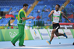 Bentria Firas Bentria (ALG), <br /> SEPTEMBER , 2016 - Athletics : <br /> Men's Long Jump T11 at Olympic Stadiumduring the Rio 2016 Paralympic Games in Rio de Janeiro, Brazil.<br /> (Photo by AFLO SPORT)