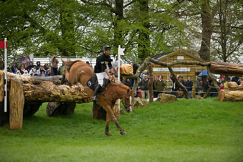2.5.2010:, Andrew Nicholson of NZL on Nereo at Fence 3, Badminton Cross Country