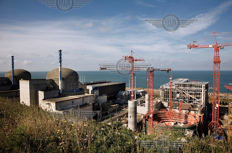 Construction of Flamanville 3, a new pressurized water reactor at the Flamanville Nuclear Power Plant.