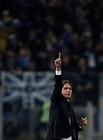 Football Soccer: Tim Cup semi-final second Leg, SS Lazio vs AC Milan, Stadio Olimpico, Rome, Italy, February 28, 2018.<br /> Lazio's coach Simone Inzaghi gestures during the Tim Cup semi-final football match between SS Lazio vs AC Milan, at Rome's Olympic stadium, February 28, 2018.<br /> <br /> UPDATE IMAGES PRESS/Isabella Bonotto