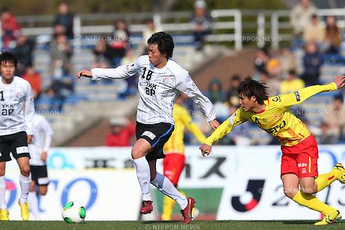 Yudai Nishikawa (Kataller), .MARCH 3, 2013 - Football /Soccer : .2013 J.LEAGUE Division 2 .between Giravanz Kitakyushu 1-2 Kataller Toyama .at Honjo Stadium, Fukuoka, Japan. .(Photo by YUTAKA/AFLO SPORT)