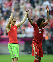 FUSSBALL   1. BUNDESLIGA  SAISON 2012/2013   7. Spieltag FC Bayern Muenchen - TSG Hoffenheim    06.10.2012 Torwart Manuel Neuer und Dante (v.li., FC Bayern Muenchen)