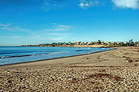 A mid-morning view of Goleta Beach one January day, California.