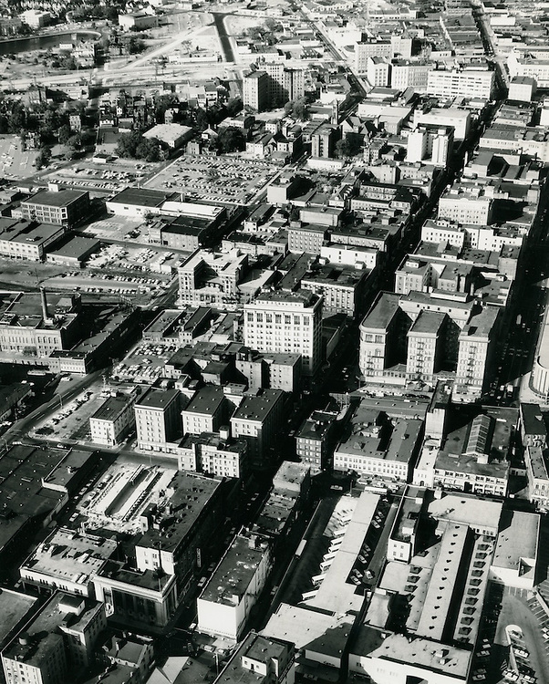 1963 October 13..Conservation.Downtown West (A-1-3)..Aerial view.Granby Street looking North..VU Photo.NEG#.NRHA#..