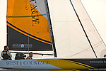 Diam 24 One Design, light, sporty, powerful, winged and designed to race with three or four people on board. The Diam 24OD is fast in light winds and confident in stronger breeze without the necessity for high level sporting prowess. The Diam 24 the new boat for the Tour de France à la Voile 2015.<br /> West Courtage, Skipper Simon Moriceau