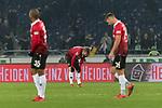 28.01.2018, HDI Arena, Hannover, GER, 1.FBL, Hannover 96 vs VfL Wolfsburg<br /> <br /> im Bild<br /> Charlison Benschop (Hannover 96 #35), Iver Fossum (Hannover 96 #18), Niclas F&uuml;llkrug / Fuellkrug (Hannover 96 #24) entt&auml;uscht nach dem Spiel, <br /> <br /> Foto &copy; nordphoto / Ewert