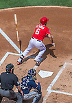 23 August 2015: Washington Nationals infielder Anthony Rendon in action against the Milwaukee Brewers at Nationals Park in Washington, DC. The Nationals defeated the Brewers 9-5 in the third game of their 3-game weekend series. Mandatory Credit: Ed Wolfstein Photo *** RAW (NEF) Image File Available ***