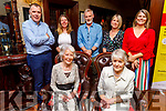 Brid Finnerty from Waterford and formally of Dingle, celebrating her birthday on Saturday in the Grand Hotel. Seated:  Brid Finnerty and Pat Boyle. Back l to r: Dick and Alison Boyle, Sean O'Connor, Una Boyle and Kate O'Connor.
