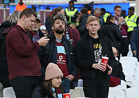 Burnley fans<br /> <br /> Photographer Rob Newell/CameraSport<br /> <br /> The Premier League - West Ham United v Burnley - Saturday 3rd November 2018 - London Stadium - London<br /> <br /> World Copyright &copy; 2018 CameraSport. All rights reserved. 43 Linden Ave. Countesthorpe. Leicester. England. LE8 5PG - Tel: +44 (0) 116 277 4147 - admin@camerasport.com - www.camerasport.com