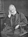 """Victor Hugo (1802-1885) poete et romancier francais c. 1876 image extraite du journal """"Le Theatre"""" Mars1902   --- Victor Hugo (1802-1885) french writer, c. 1876"""