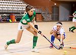 Almere - Zaalhockey Kampong-Push .  Kim Janise (Push) met Kiki van Wijk.  COPYRIGHT KOEN SUYK