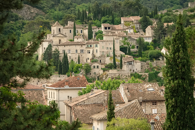 The upper town (Ville-Haute) in Vaison la Romaine is a picturesque, but fortified, medieval old town.