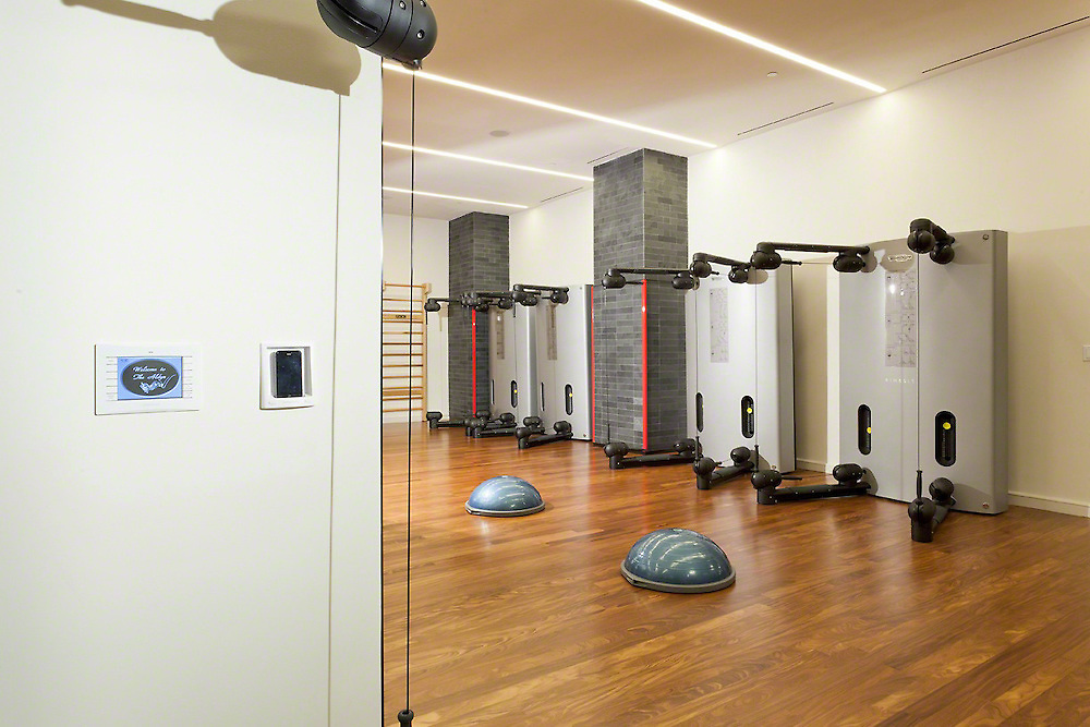 Exercise Room With iPod Dock