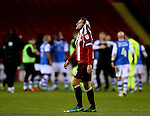 Billy Sharp of Sheffield Utd walks off dejected during the English League One match at Bramall Lane Stadium, Sheffield. Picture date: November 29th, 2016. Pic Simon Bellis/Sportimage