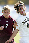 BC's Ryan Sherman (7) and Wake's Steven Curfman (r) on Tuesday, November 8th, 2005 at SAS Stadium in Cary, North Carolina. The Wake Forest Demon Deacons defeated the Boston College Eagles 4-0 during their Atlantic Coast Conference Tournament Play-In game.