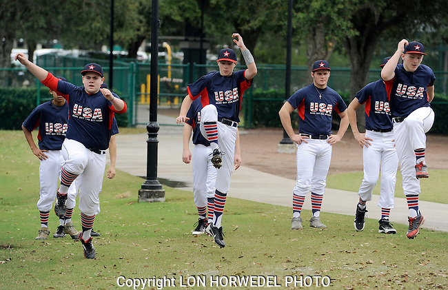 Game Day USA U-14 All Stars vs. Sherwood Park, Canada - Disney New Year's Baseball Classic, Kissimmee, Florida, 12-29-13.