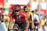 Nicolas Roche (IRL) Team Sunweb crosses the finish line in 2nd place at the end of Stage 2 of La Vuelta 2019 running 199.6km from Benidorm to Calpe, Spain. 25th August 2019.<br /> Picture: Eoin Clarke | Cyclefile<br /> <br /> All photos usage must carry mandatory copyright credit (© Cyclefile | Eoin Clarke)