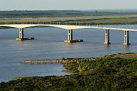 URUGUAY Fray Bentos, river Rio Uruguay and bridge to Argentina / URUGUAY Fray Bentos , Fluss Rio Uruguay und Bruecke nach Argentinien