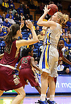 BROOKINGS, SD - JANUARY 9:  Mariah Clarin #40 from South Dakota State University shoots over Nevena Markovic #34 from IUPUI in the first half of their game Thursday night at Frost Arena in Brookings. (Photo by Dave Eggen/Inertia)