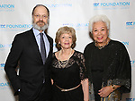 "David Hyde Pierce, Victoria Traube and Joy Abbott during The ""Mr. Abbott"" Award 2019 at The Metropolitan Club on 3/25/2019 in New York City."