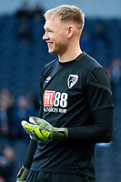 Bournemouth's Aaron Ramsdale during the pre-match warm-up <br /> <br /> Photographer Stephanie Meek/CameraSport<br /> <br /> The Premier League - Tottenham Hotspur v Bournemouth - Saturday 30th November 2019 - Tottenham Hotspur Stadium - London<br /> <br /> World Copyright © 2019 CameraSport. All rights reserved. 43 Linden Ave. Countesthorpe. Leicester. England. LE8 5PG - Tel: +44 (0) 116 277 4147 - admin@camerasport.com - www.camerasport.com