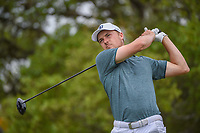 Jordan Spieth (USA) watches his tee shot on 2 during day 1 of the Valero Texas Open, at the TPC San Antonio Oaks Course, San Antonio, Texas, USA. 4/4/2019.<br /> Picture: Golffile   Ken Murray<br /> <br /> <br /> All photo usage must carry mandatory copyright credit (&copy; Golffile   Ken Murray)