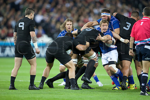 24.09.2015. Olympic Stadium, London, England. Rugby World Cup. New Zealand versus Namibia. New Zealand All Black number 8 Victor Vito.
