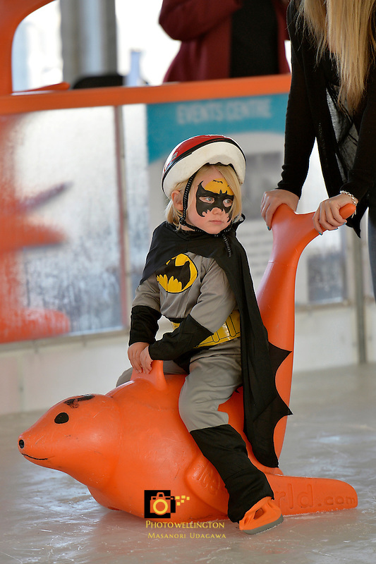 Cyrus Van Diest at the Hutt City - Dowse Square Ice Rink Super Hero Event, Dowse Square, Lower Hutt, New Zealand on Saturday 3 October 2015.<br /> Photo by Masanori Udagawa. www.photowellington.photoshelter.com.