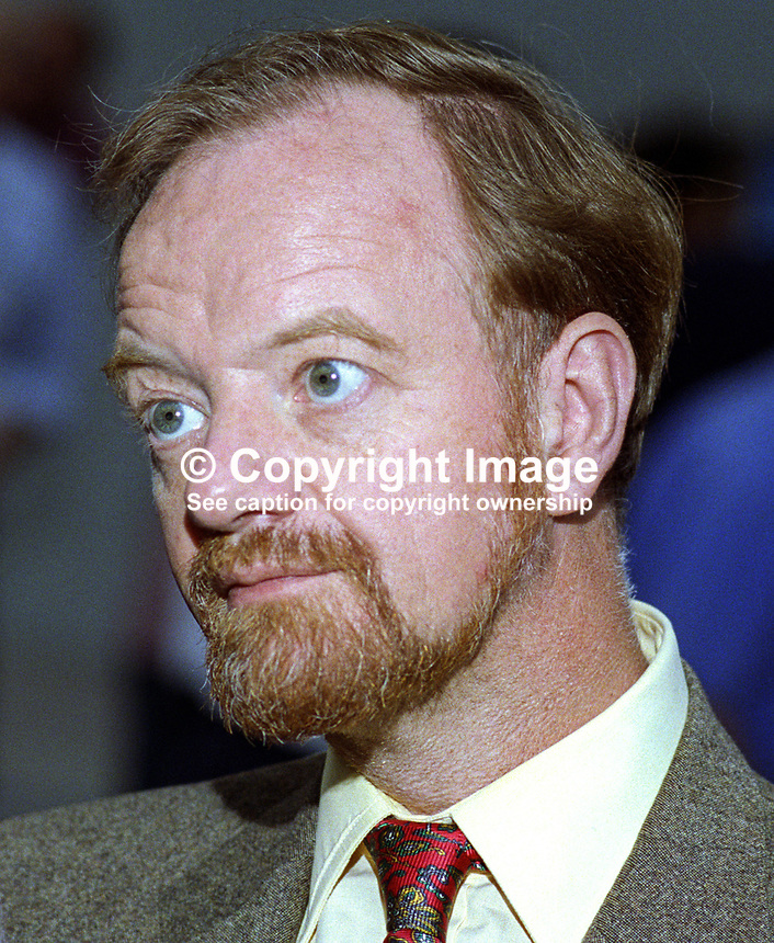 Robin Cook, MP, Scotland, Labour Party, UK, politician, 19921002RC2.<br /> <br /> Copyright Image from Victor Patterson,<br /> 54 Dorchester Park, <br /> Belfast, UK, BT9 <br /> <br /> t1: +44 28 9066 1296 (from Rep of Ireland 048 90661296)<br /> t2: +44 28 9002 2446 (from Rep of Ireland 048 9002 2446)<br /> <br /> m: +44 7802 353836<br /> <br /> e: victorpatterson@me.com<br /> www.victorpatterson.com<br /> <br /> Please see my Terms and Conditions of Use at www.victorpatterson.com. It is IMPORTANT that you familiarise yourself with them.<br /> <br /> Images used on the Internet must be visibly watermarked i.e. &copy; Victor Patterson<br /> within the body of the image and copyright metadata must not be deleted. Images <br /> used on the Internet have a size restriction of 4kbs and will be chargeable at current<br />  NUJ rates unless agreed otherwise.<br /> <br /> This image is only available for the use of the download recipient i.e. television station, newspaper, magazine, book publisher, etc, and must not be passed on to any third <br /> party. It is also downloaded on condition that each and every usage is notified within 7 days to victorpatterson@me.com<br /> <br /> The right of Victor Patterson to be identified as the author is asserted in accordance with The Copyright Designs And Patents Act (1988). All moral rights are asserted.