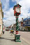 Victorian Jubilee clock 1897 on street in town of Cricklade, Wiltshire, England, UK