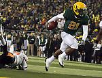 Oregon LaMichael James scores his second touchdown against Oregon State in the Civil War at Autzen Stadium...Photo by Jaime Valdez